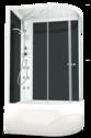 Душевая кабина Domani-Spa Delight 128 high L с гидромассажем, черные стенки, прозрачное стекло