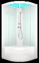 Душевая кабина Domani-Spa Eco Delight 88 high белые стенки, прозрачное стекло